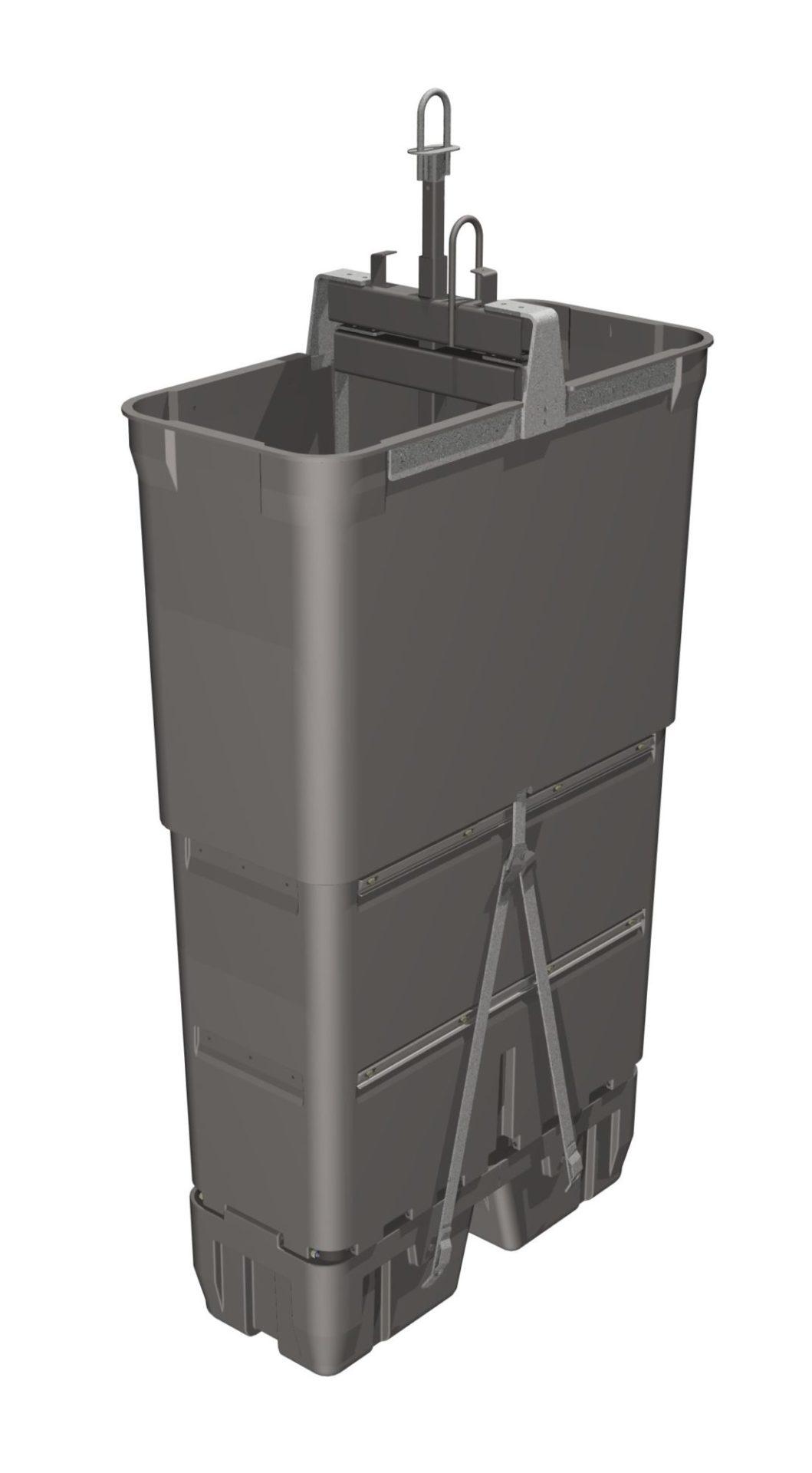 cuve pour déchets verts 1860 litres
